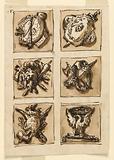 Decoration of six panels