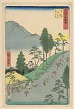 Nissaka: Distant View of Mukenzan from Sayononakayama (Nissaka, Sayonoyamanak Mukenzan enbo)