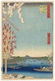 Miyato River by Great Bank of Asakusa River, No 68 from One Hundred Views of Edo (Asakusa-gawa Okawa-bata, Miyato-gawa)