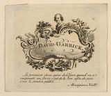 Book-Plate of David Garrick