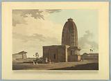 """An Hindoo Temple, At Deo, In Bahar, from """"Oriental Scenery: Twenty Four Views in Hindoostan"""""""