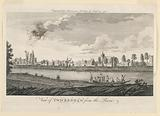 View of Twickenham, from the River Thames, from Walter Harrison's History of London