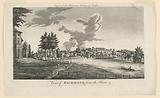 View of Richmond, from the River Thames, from Walter Harrison's History of London