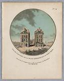 """Entrance to the Place Dauphine by the Pont Neuf, from """"Vues Pittoresques des Principaux Édifices de Paris"""""""