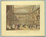 "Exhibition Room, Somerset House, from ""Ackermann's Repository"""