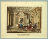 """Board Room of the Admiralty, from """"Ackermann's Repository"""""""