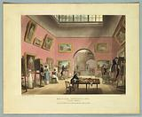 """British Institution, Pall Mall, from """"Ackermann's Repository"""""""