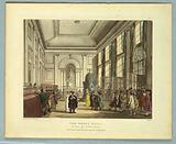 "The Great Hall, Bank of England, from ""Ackermann's Repository"""