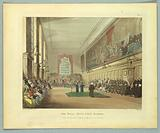 """The Hall, Blue Coat School, from """"Ackermann's Repository"""""""