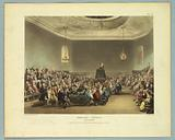 """Debating Society, Piccadilly, from """"Ackermann's Repository"""""""