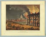 """Fire in London, from """"Ackermann's Repository"""""""