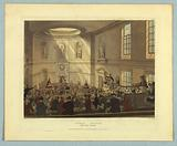 """India House, The Sale Room, from """"Ackermann's Repository"""""""