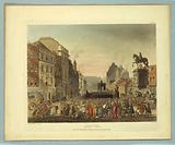 """Pillory, Charing Cross, from """"Ackermann's Repository"""""""