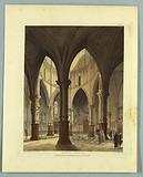 """Temple Church, from """"Ackermann's Repository"""""""