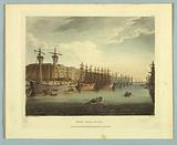 """West India Docks, from """"Ackermann's Repository"""""""