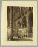 """Westminster Abbey, from """"Ackermann's Repository"""""""