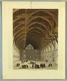 """Westminster Hall, from """"Ackermann's Repository"""""""