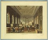 """South Sea House Dividend Hall, from """"Ackermann's Repository"""""""