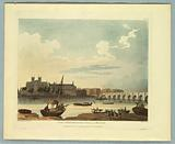"""View of Westminster Hall and Bridge, from """"Ackermann's Repository"""""""