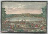 Peep-Show Print, View of the Bassin des Suisses, Versailles