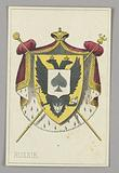 """Russia, Ace of Spades from Set of """"Jeu Imperial–Second Empire–Napoleon III"""" Playing Cards"""