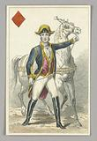 """Habsburg Horseman, Jack of Diamonds from Set of """"Jeu Imperial–Second Empire–Napoleon III"""" Playing Cards"""