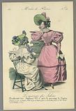 Fashion Plate from Le Mercure des Salons, Modes de Paris