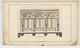 Elevation for a Decorated Cabinet with Shelving for Natural History Books and Objects