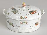 """Covered Butter Dish with """"Korean Lions"""""""
