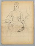 Sketch for a Portrait of a Seated Woman