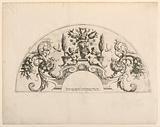 """Fan leaves, Fifth and sixth plates of the set, """"Divers Desseins de grands Eventails, Encrans, et autres Ornamens, inventés et gravés par Nicolas Loire"""""""