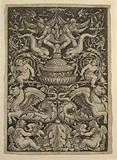 Grotesque with Dolphins and Winged Lions