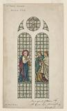 Design for Stained Glass Window, St Paul's Church, Boston, MA