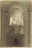 """A Sepulchral Monument of Henry Cardinal York and Charles Edward Stuart, the """"Young Pretender"""""""