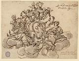 Design for a Ceiling (?) Painting with the Coat of Arms of Cardinal Francesco Maria de'Medici