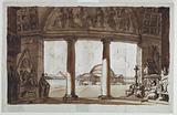 Sepulchral Chapel seen through a Colonnade