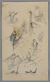 Sketches of Figures on Boats