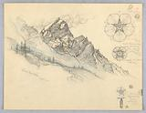 Antelao, From Cortina, with Studies of Flowers