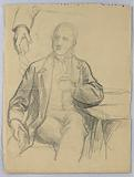 Sketch of Man Seated in Armchair
