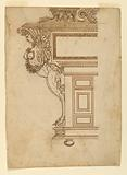 Elevation of the Side of an Ornate Cabinet