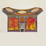 Design for the West Wall of the Music Room, for Brighton Pavilion, Brighton, England