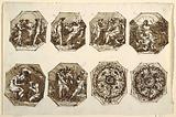 Six Octagonal Compostions, Hercules and Hebe, Two Foliated Ornaments, Sala di Ercole e Ebe, Palazzo Gessi