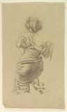 "Study for a kneeling woman, ""Vintage Festival,"" Mendelssohn Glee Club, New York, NY"