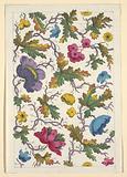Floral design for printed textile