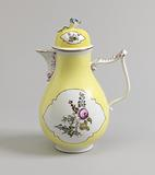 Coffeepot with Yellow Ground and Flowers