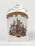 Tea Caddy with Chinoiserie Vignettes