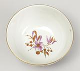 Slop Bowl with Chinoiserie Vignettes