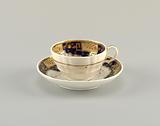 Cup and Saucer with Imari Style Pattern