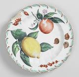 Fruit or Dessert Plate with Scroll Edge