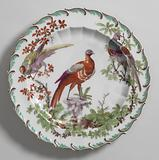 """Fruit or Dessert Plate with """"Disheveled Birds"""""""